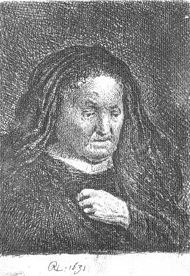 Artist's Mother with Hand on Her Chest