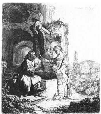 Christ and the Woman of Samaria, Among Ruins